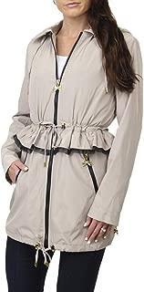 Betsey Johnson Women's Lightweight Hooded Peplum Anorak Jacket