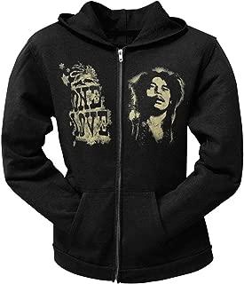 Bob Marley - One Love Black Juniors Zip Hoodie - Medium