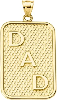 Best 10k gold dog tag necklace Reviews