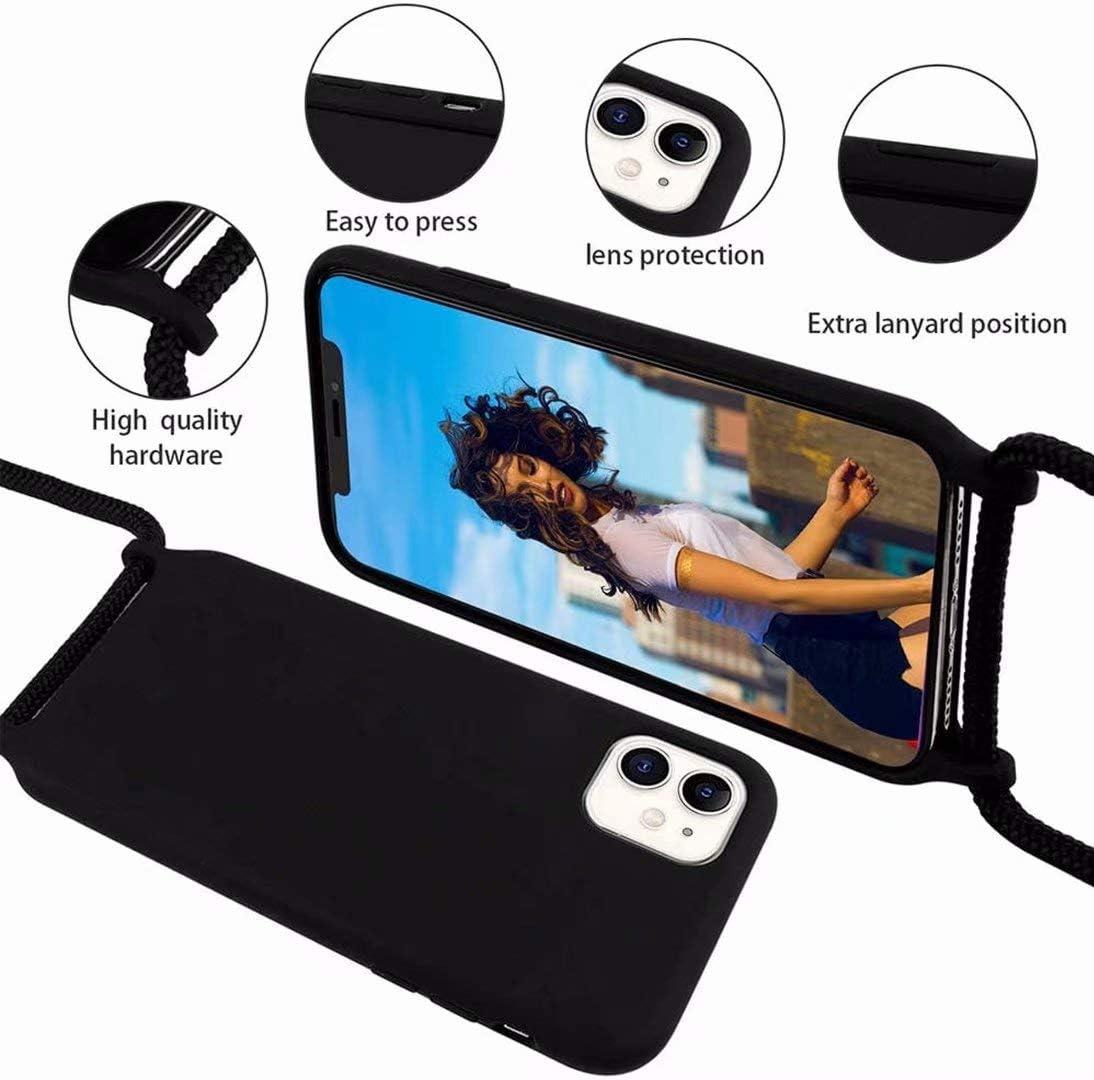 Funda con Cuerda para Samsung Galaxy Note 9,Moda y Practico Carcasa Gel de s/ílice TPU Case Cover con Colgante//Cadena.