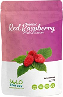 Certified Organic Red Raspberry Leaves 4oz., Red Raspberry Leaf Tea , Dried Cut Leaves in a Resealable Bag, Rubus Idaeus ,...