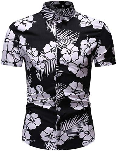 Imprimir Camisa de Flores de Manga Corta para Hombres Camisa ...