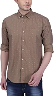 Southbay Brown Cotton Printed Casual Shirt for Men