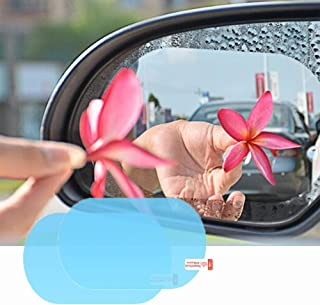 Mobily Anti Fog Film, Rearview Mirror Waterproof Film Anti-glare Anti Dust Anti-Water Mist HD Nano Film Rearview Mirror Side Window Protective for All Automobile and Vehicle (100 x 145 mm) 2 Pack