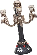 MagiDeal Gothic Creative Skull Design Candlestick Candles Stand Candlestick Halloween Party Bar Ornament