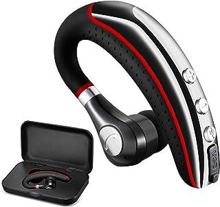 Auriculares Bluetooth, inalámbricos v5.0 Business Bluetooth en el oído, ligeros, resistentes al sudor, con micrófono, para teléfonos celulares para la oficina, entrenamiento/conducción
