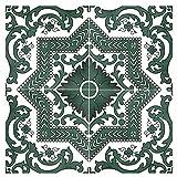 WDSWBEH Azulejos De Cerámica Vintage Marroquíes, Azulejos De Pared Y Suelo De 11,8 X 11,8 Pulgadas, Azulejos para Salpicaduras De Baño, Azulejos De Cocina para Balcón