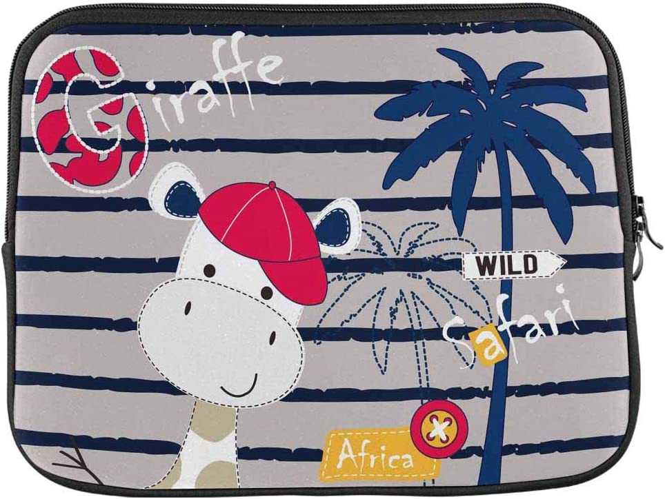INTERESTPRINT Laptop Sleeve Cute Funny Pink Cartoon Pigs Notebook Neoprene Pouch Case Bag 15.4 Inch 15.6 Inch
