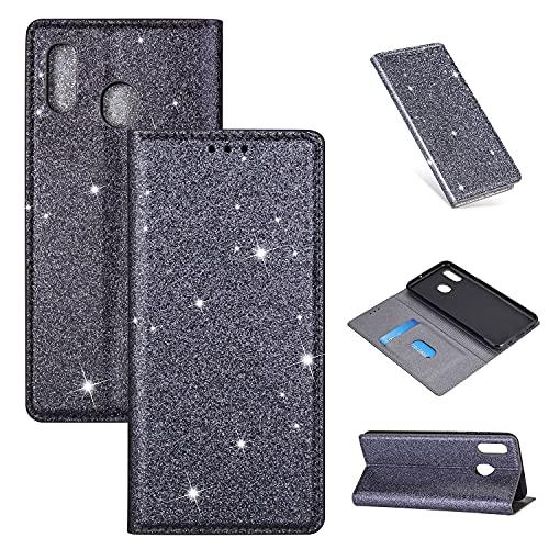 Caso del tirón del teléfono Para Samsung Galaxy A40 Slot Funda protectora PU Funda protectora de platillo de cuero de plomo de lujo Flip Funda protectora con estuche de teléfono a prueba de golpes, ca