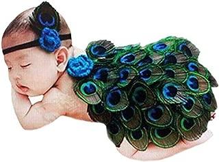 peacock crochet baby
