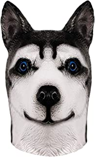 Molezu Máscara la Cabeza Animal Látex Fiesta de Halloween de Perro para adulto