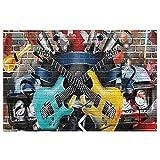 Felpudo para puerta, diseño de graffiti de guitarra, arte de la...