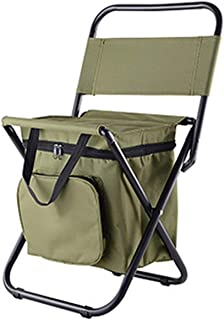 I'll NEVER BE HER Fishing Chair Movable Refrigerator Keep Warm Cold Portable Folding Beach Chair About 1350g Seat Camping 100kg Chairs with Pocket