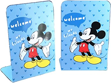 YOURNELO Cartoon Charactor Ironwork Nonskid Bookends for Girls (Mickey)