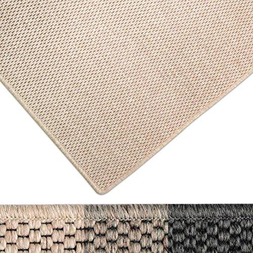 casa pura Moderner Teppich in Premium Sisal Optik | ausgezeichnet mit GUT-Siegel | pflegeleichtes Flachgewebe | viele Größen (beige, 100x150 cm)