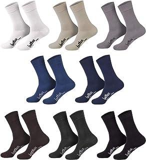 12 pares de calcetines de bambú muy suaves para él y para ella, comodidad óptima, sin goma apretada, con punta.