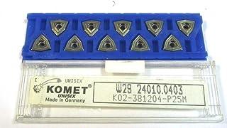 LEBONDO original von PROWEMO 10 St/ück Wendeplatten zum Drehen DCMT 070202-FM PW7920 f/ür Edelstahl