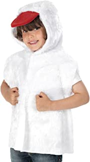 Duck Costume for Kids one Size 3-8 Yrs White