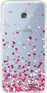 Case for 5.2 inch Samsung Galaxy A5 2017, Heart Confetti Design