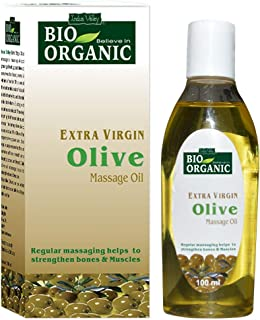 Indus Valley Bio Organic Extra Virgin Olive Massage Oil 100 ml.