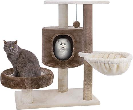 Ruixiia - Árbol para gato con rascador, marco de escalada de ...