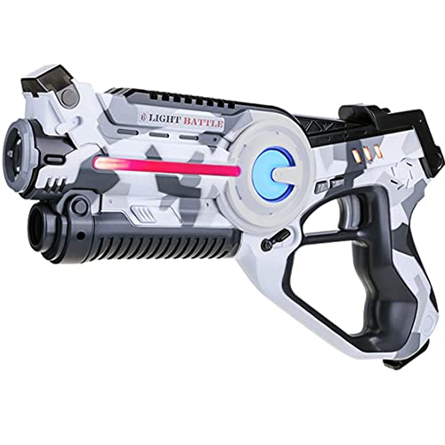 Light Battle Pistolet Infrarouge Enfant - 1x Pistolet Laser Game Infrarouge de Couleur Camo Blanc - Pistolets Laser Enfants - Jeu de Laser LBA107
