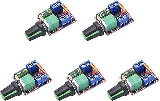 Onyehn DC Motor PWM Speed Controller 3V 6V 12V 24V 35V Speed Control Switch Mini LED Dimmer 5A 90W(Pack of 5pcs)