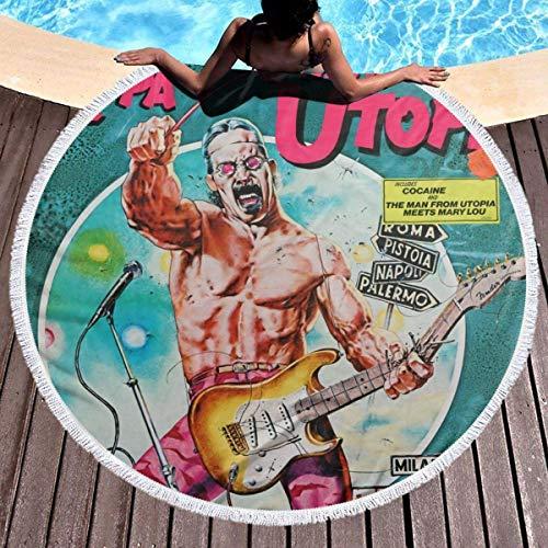 Frank Zappa Der Mann von Utopia Mikrofaser Runde Strandtuch Kreis Picknick Teppich Yoga Matte Decke dekorative Tapisserie 59inch