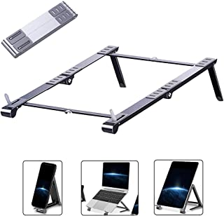 Laptop Stand, Foldable Ergonomic Laptop Stand from Aluminum Alloy, Portable Adjustable Standard Suitable for 11-17 inch,Si...