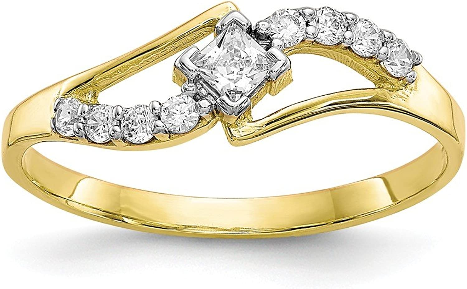 Beautiful Yellow gold 10K Yellowgold 10k CZ Ring