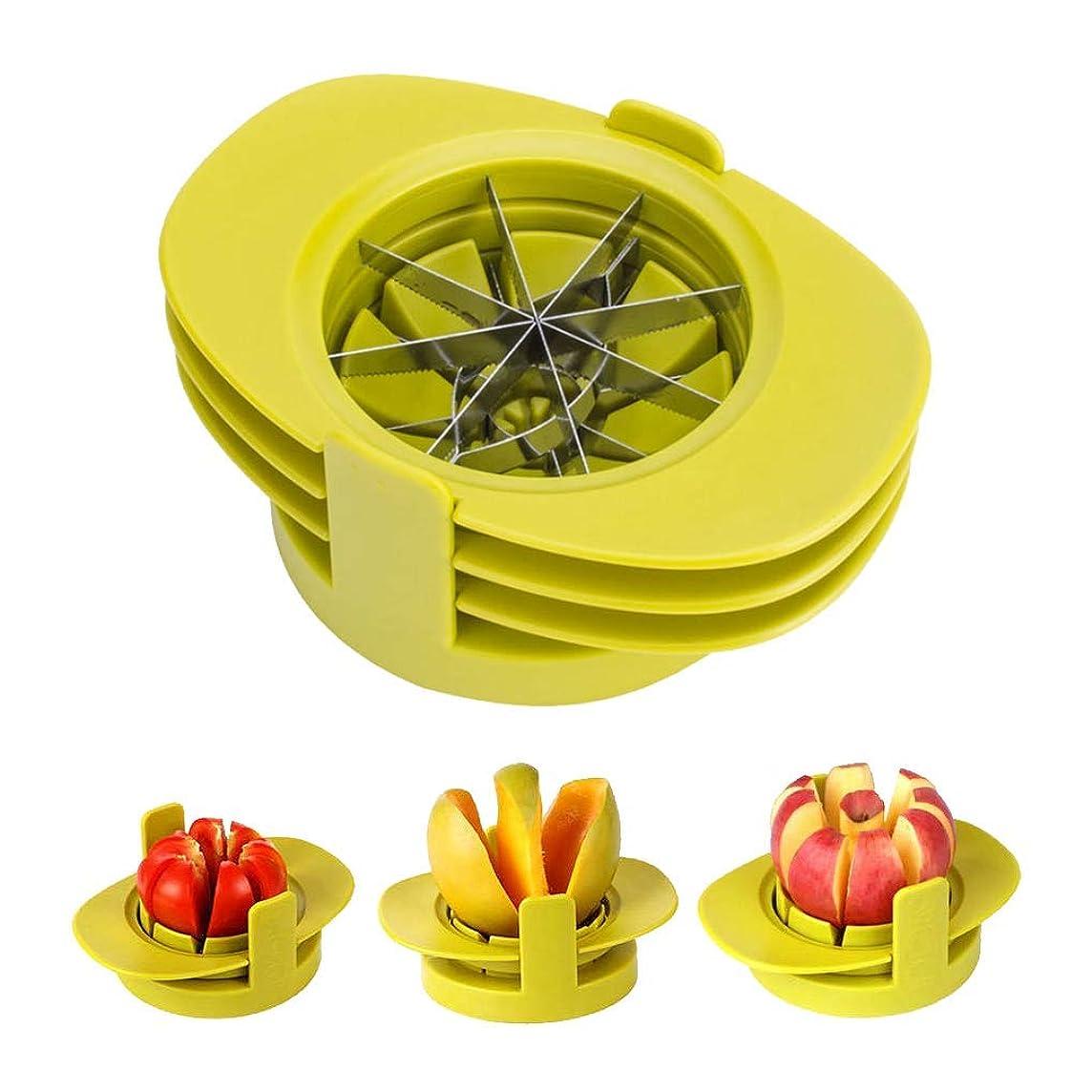ZLJ Apple Slicer Corer, Wedger and Divider, 4 in 1 Fruit Cutter with Mango Cutter, Tomato Slicer, Pear Slicer, Orange Cutter
