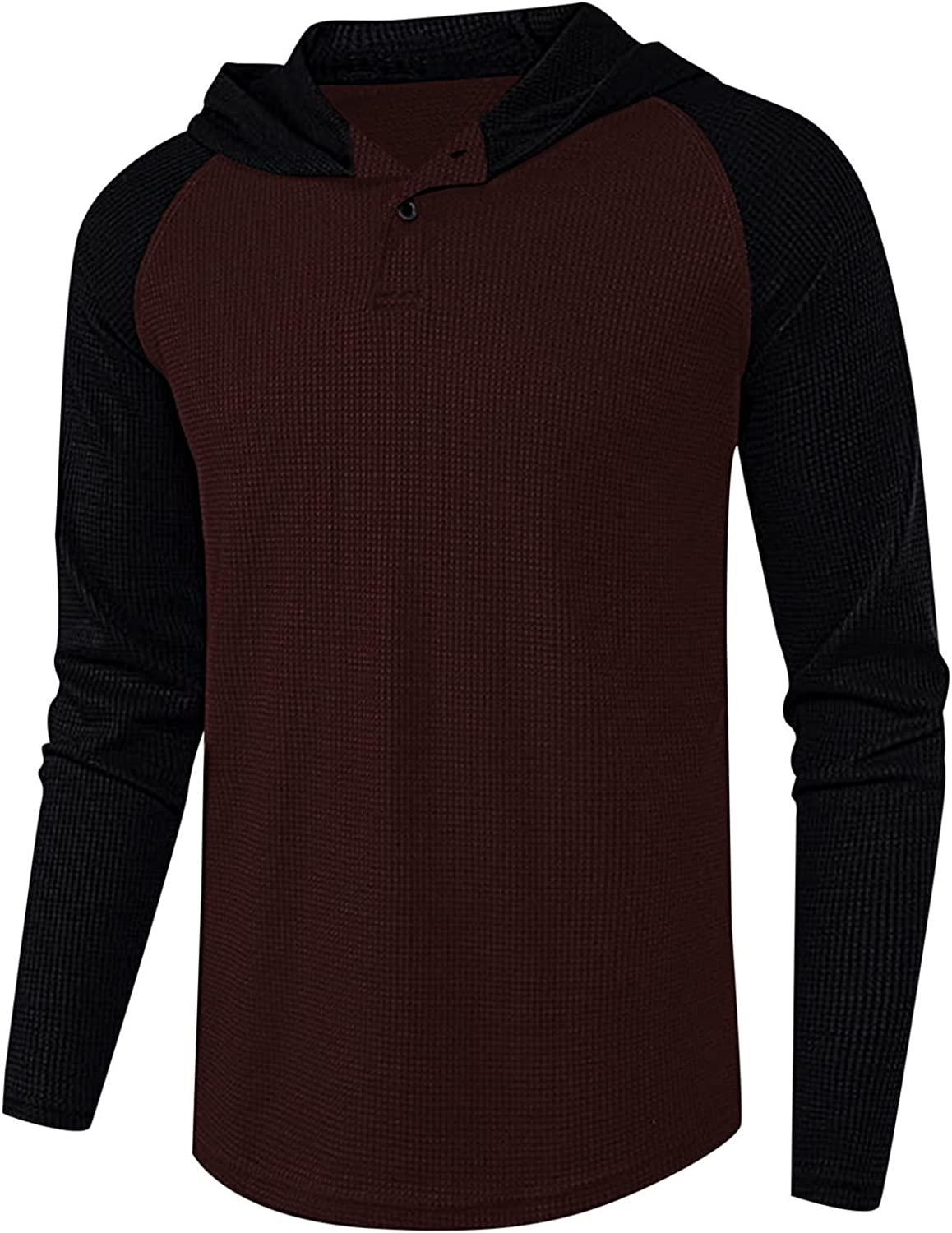 Tops for New Shipping Free Men Basic Solid Color Sleeve Fit Long Round Button Baltimore Mall Slim