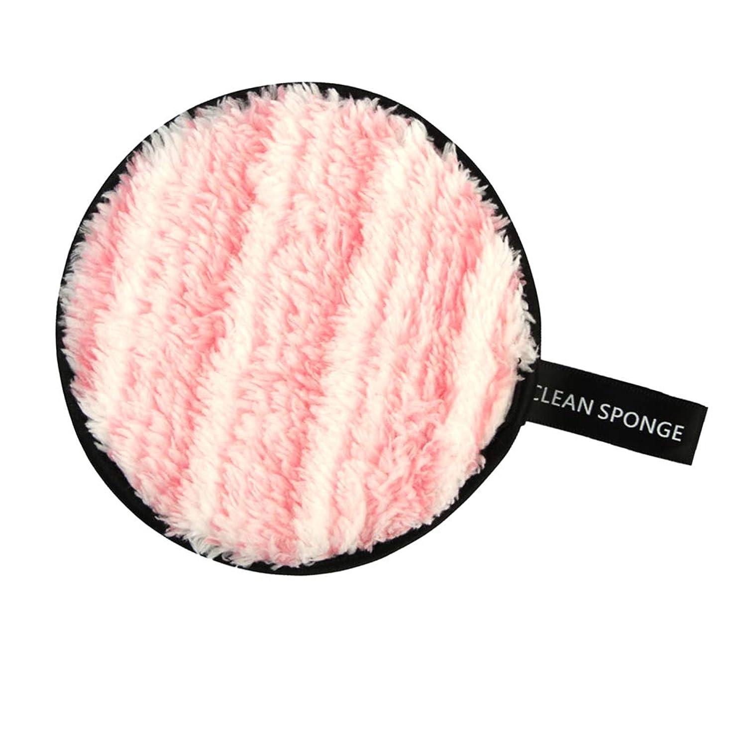 問題有名気難しいP Prettyia 再利用可能 洗顔パフ メイクアップ スポンジ 全6色 - ピンク