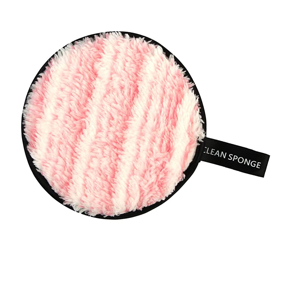 広告主羊の服を着た狼代数的P Prettyia 再利用可能 洗顔パフ メイクアップ スポンジ 全6色 - ピンク