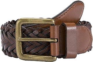 Dents Men's Plaited Leather Belt