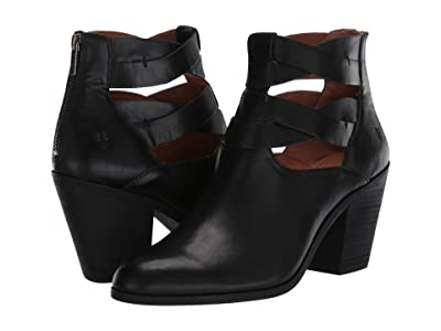 Frye Cameron Twist Bootie (Black Antique Pull Up) Women