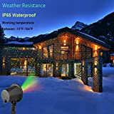 Laser Lights Christmas Holloween Starry Lights Red and Green Outdoor Garden Holiday Party Decoration Waterproof RF Remote