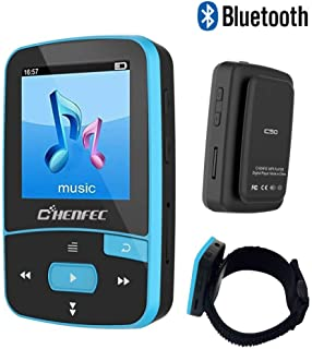 16GB Bluetooth MP3 Player, Sports Clip Hi-Fi Sound Music Player with FM Radio, Pedometer, 1.5 Inch OLED Screen, Support Mi...