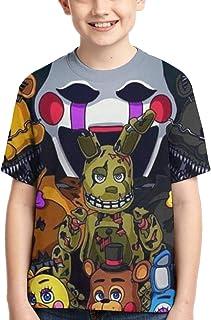 تي شيرت للأطفال مطبوع عليه Five Nights at Freddy's Bear قمصان صيفية للأولاد والبنات