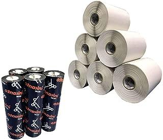 Kit 10 Rolos Etiqueta Bopp 50x120 Mm 2 Colunas + 5 Ribbon Resina