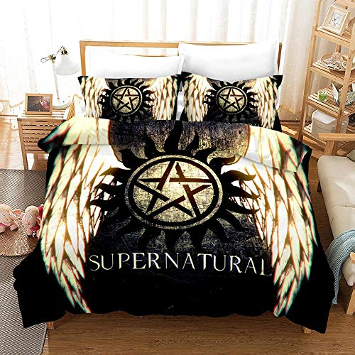 bed linings Bettwäsche-Set 3D Supernatural Druck Kind Erwachsene Bettwäsche Aus 100% Polyester Bettbezug 3 Stück Mit 2 Kissen- D-US King259x229cm