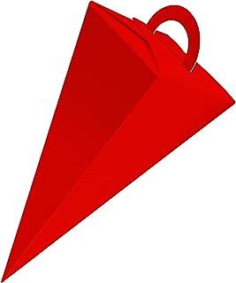 itenga Geschenktüte Schultüte Zuckertüte mit Griff 21cm Muster Schiefer Tafel