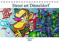 Street art Duesseldorf Michael Jaster (Tischkalender 2022 DIN A5 quer): Bilder aus der Hall Of Fame in Duesseldorf-Eller zeigen Graffiti in kraftvollen Farben und beeindruckender Groesse der Duesseldorfer Graffiti Kuenstler. (Monatskalender, 14 Seiten )