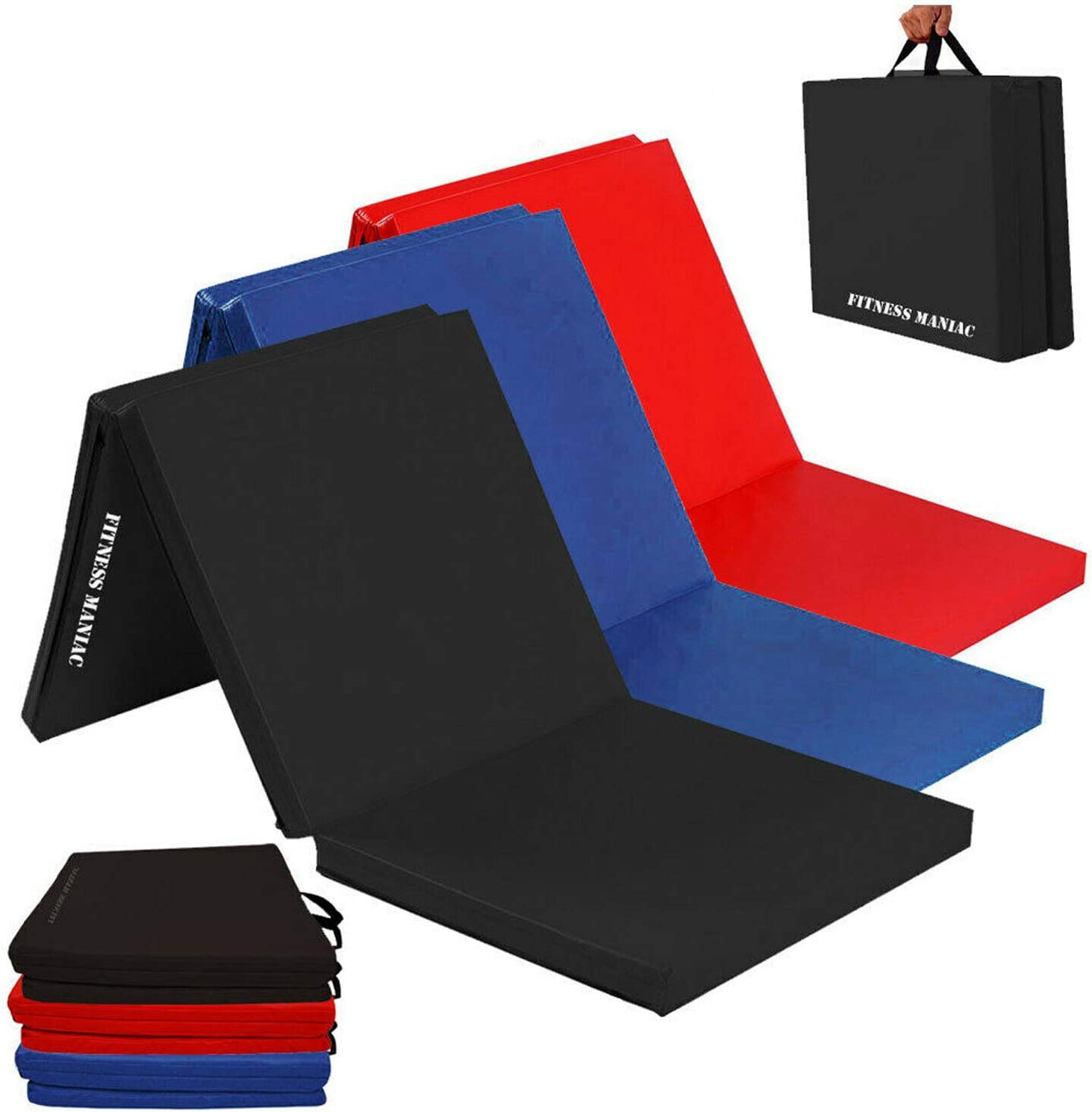 Bargain FITNESS MANIAC Popular products Black Folding Mat Aerobics Exercise Panel Tumblin