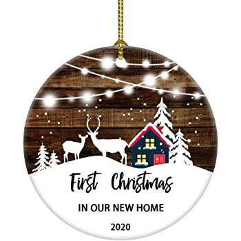 Amazon.com: JUOOE 2020 First Christmas in Our Home Christmas Tree