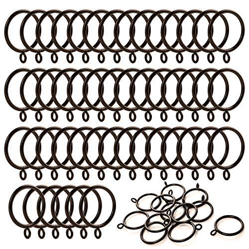 ANJUU 48 Pack 38mm Inner Diameter Metal Curtain Drape Sliding Eyelet Rings Cocoa Tone