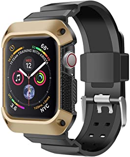 2019 Band Strap Case Compatible with Series 4 Apple Watch (44mm) (Gold)