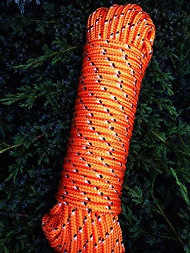Nr.31 Oranges Polypropylen Seil 10 mm x 30 m, Schnur, Reepseil, Flechtschnur, Tauwerk, Tau,Rope,Reep,Bootsleine,Ankerleine,Festmacher,Allzweckseil, Segeltauwerk, Mehrzweckseil, Bootstau, Strick, Ersatzseil, Reparaturseil, Schot