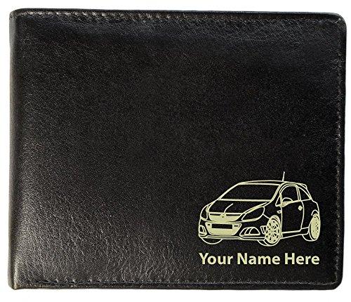 Herren-Brieftasche, Leder, Toskana-Stil, Design: Opel Corsa OPC, personalisierbar