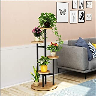 HTTSC Multilayer Inner Bracket of Modern Art of Flower Soil Easy Mode Workbench Office Study Bedroom Storage Booth (Color ...